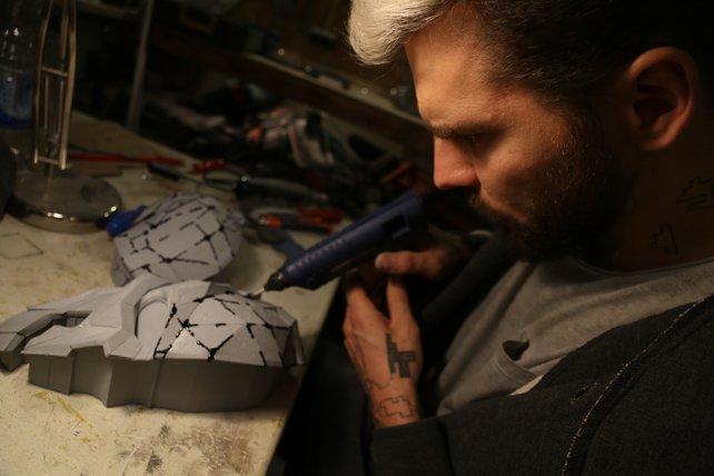 Die Maske von Corvo hat das Team knapp einen Monat lang beschäftigt.