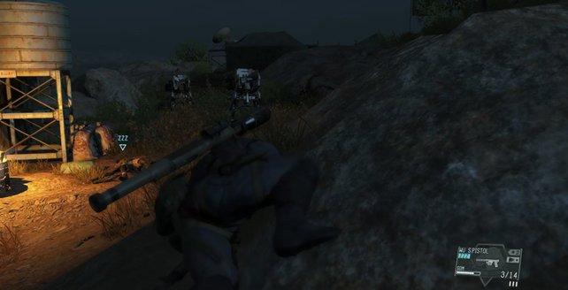 Bei dem Lager auf dem Hügel findet ihr die vier Walker Gears.