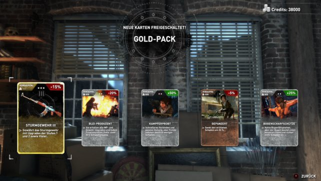 Gelb umrandete Karten, verschwinden nicht nach ihrer Verwendung.