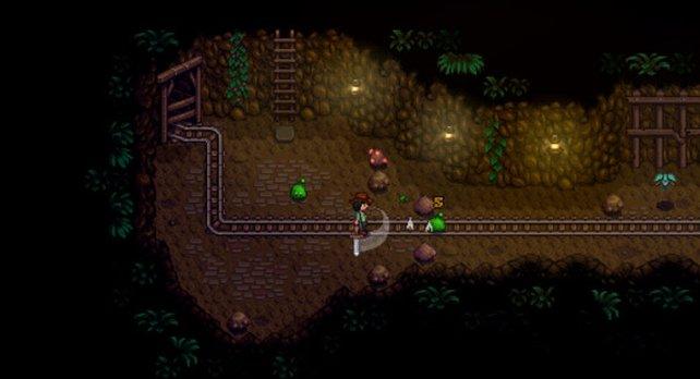 Auch in der Mine könnt ihr schnell Geld verdienen.