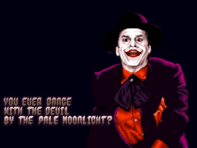 """Bei einem """"Game Over"""" bekommt ihr das grinsende Gesicht des Jokers zu sehen."""
