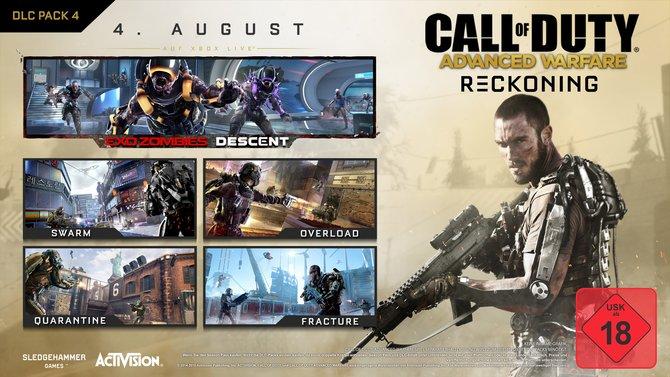 """Mit """"Reckoning"""" erwartet euch der letzte Zusatzinhalt für Advanced Warfare. Wie gewohnt gibt es vier Karten und ein neues Zombie-Szenario."""