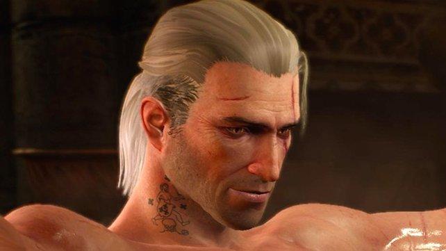 Mit dem richtigen Spielstand aus Teil 2 besitzt Geralt ein hübsch-hässliches Tattoo.