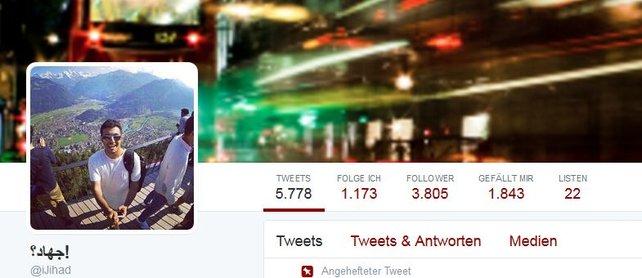 Das Twitter-Konto des PSN-Nutzers Jihad Khalid Almofadda, um den es in dem Beitrag geht.