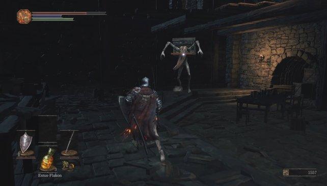 Schnappt die Mimic-Truhe in der Hohen Mauer von Lothric zu, seid ihr sofort tot.