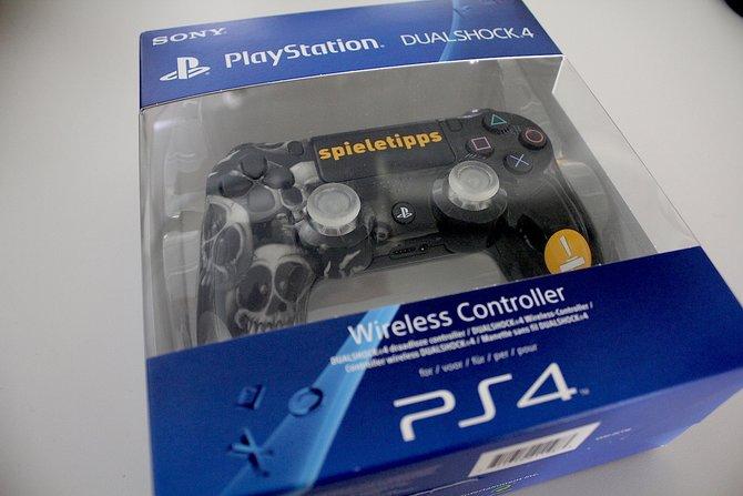 Da ist er, der einzige und offizielle spieletipps-Controller für PS4