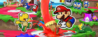 Vorschauen: Paper Mario - Color Splash: Papier-Mario kehrt auf den gro�en Bildschirm zur�ck