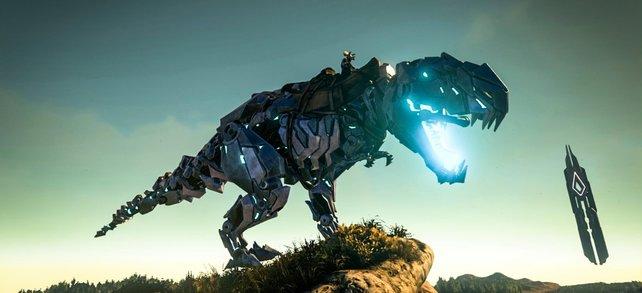 Der Bionic-Skin für den T-Rex in Ark - Survival Evolved auf der Xbox One.