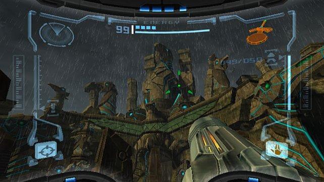 Nur ein weiterer dumpfer Egoshooter? Scheint so, aber trotzdem geht's in Metroid Prime nur am Rande ums Schießen - und hauptsächlich um die nur scheinbar unnachahmliche Atmosphäre von Super Metroid. Denn die Retro Studios haben sie doch in die dritte Dimension übertragen können.
