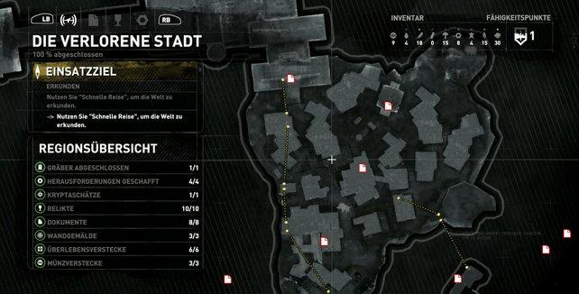 Karte: Die verlorene Stadt.