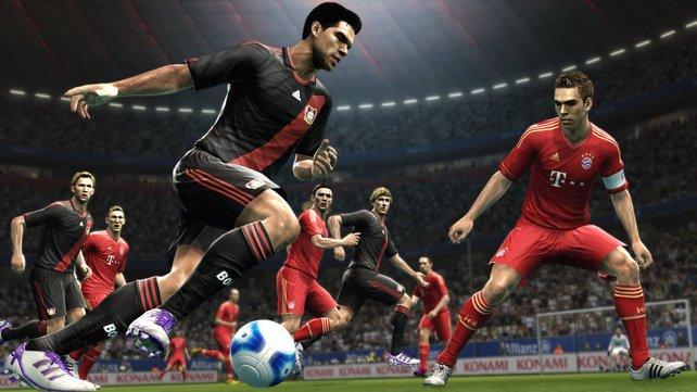 Deutsche Mannschaften: Zwei Bundesliga-Clubs sind in PES 2012 mit an Bord. Bayern München und Bayer Leverkusen.
