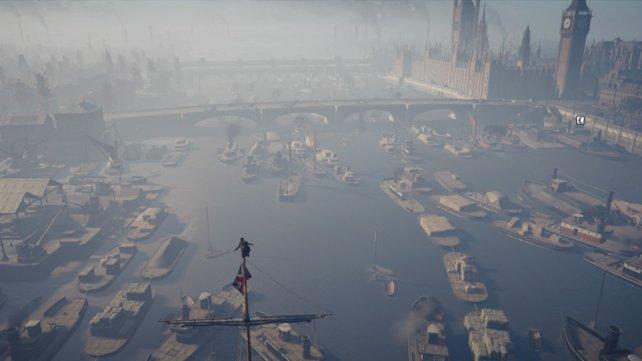 Solche Ausblicke gehören zur Stärke von Assassin's Creed - Syndicate.