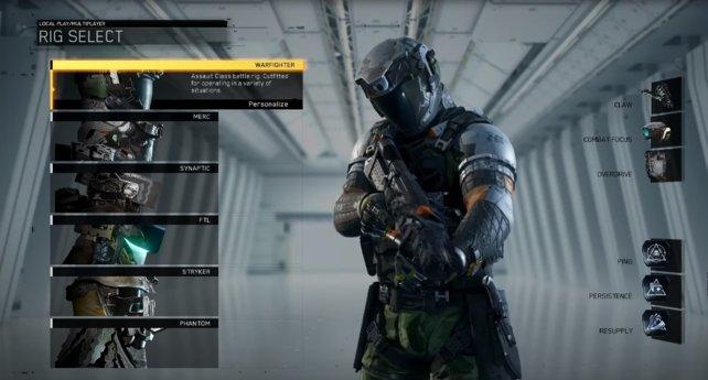 6 unterschiedliche Kampfausrüstungen stehen zur Verfügung!