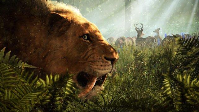 Far Cry Primal: Es gibt viele wunderschöne Bestien, die ihr zähmen könnt.