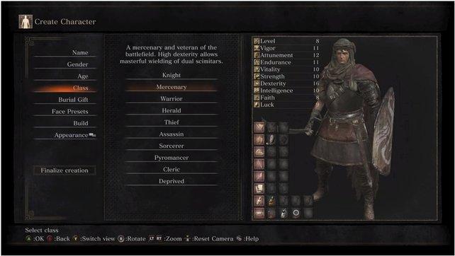 Ähnliche Werte wie die Klasse des Ritters - das ist der Söldner.