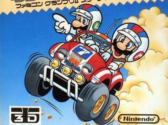 Famicom Grand Prix II: 3D Hot Rally von 1988 präsentiert der Welt erstmals einen Luigi, der eine eigenständige Persönlichkeit immerhin erahnen lässt.