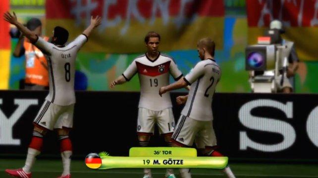 Tor, Tor, Tor: Da feiert der Angriff unserer deutschen Nationalmannschaft.