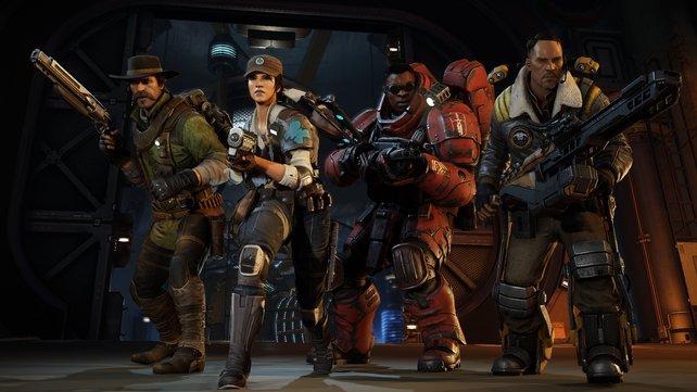 In Evolve machen vier Spieler Jagd auf ein Monstrum in spannenden Mehrspielergefechten.