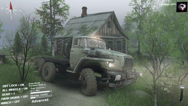 Das Spiel besticht mit überzeugender Reifenphysik und deformierbarem Schlamm-Untergrund.