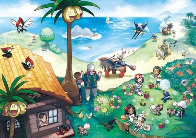 Aloha heja he! Einige Pokémon in Sonne und Mond nehmen eine besondere Alola-Form an.
