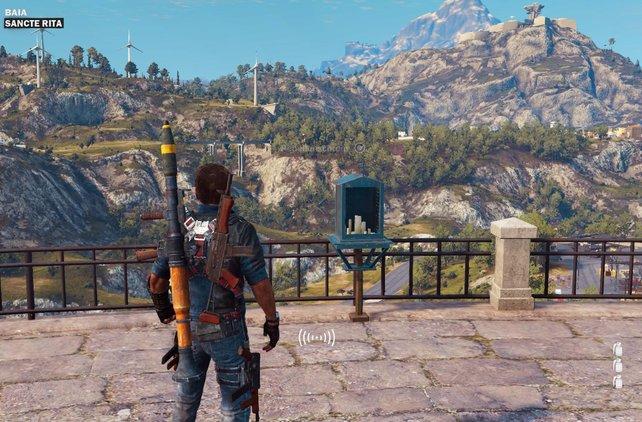 Mamma mia: Der höchste Berg im Spiel passt nicht einmal auf diesen Screenshot.