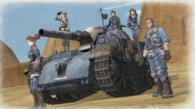 Der Panzer Edelweiß ist ein treuer Begleiter.