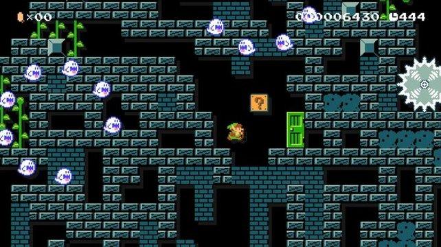 Ein Geisterhaus gab es vor Super Mario World noch nicht. Super Mario Maker reicht 8-Bit-Spukgemäuer für die NES-Marios einfach nach.