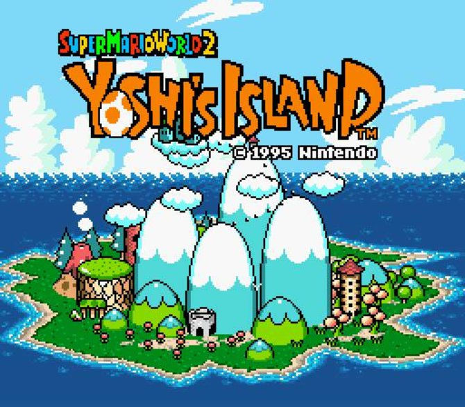 Yoshi's Island, auch bekannt als Super Mario World 2, erschien 1995 für das SNES.