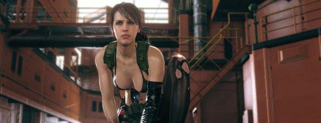 """""""Quiet"""" aus Metal Gear Solid 5 trägt kaum Kleidung. Dafür wurde ein Grund genannt: Sie atmet durch ihre Haut."""