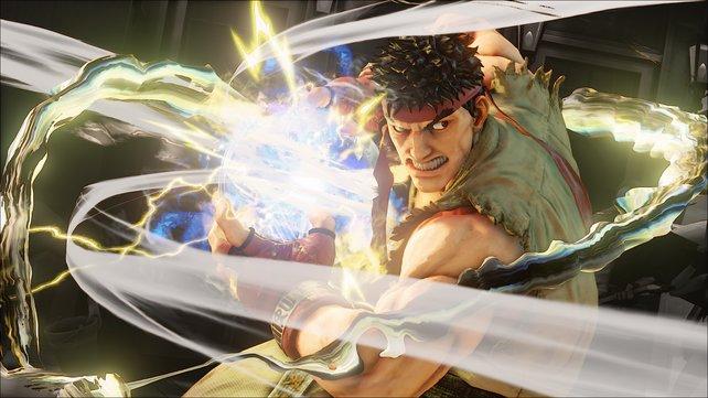 """Dank der neuen """"Critical Arts"""" kann Ryu einen besonders starken Hadouken abfeuern."""