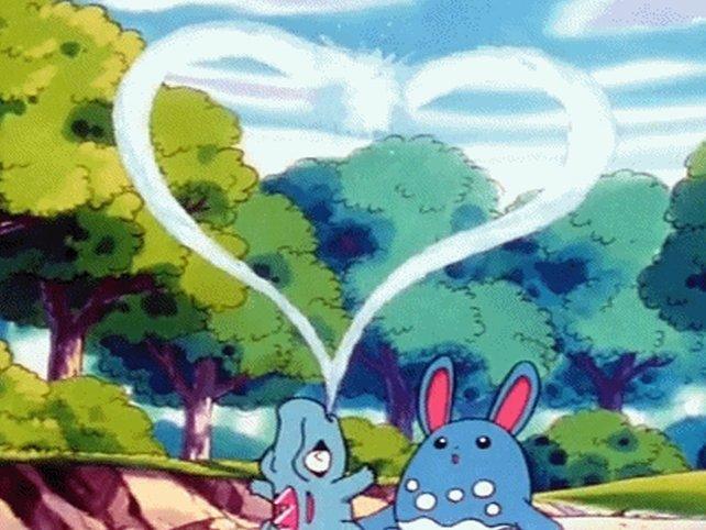 Liebeserklärungen gehören in einer guten Partnerschaft einfach dazu, dass gilt auch unter Pokémon.