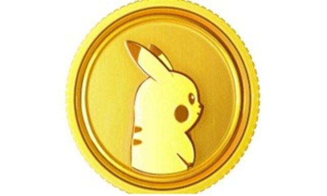 Pikachu ziert die Pokémünze.