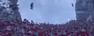 Panorama: Massenschlacht im Video: Pinguine gegen Weihnachtsmänner