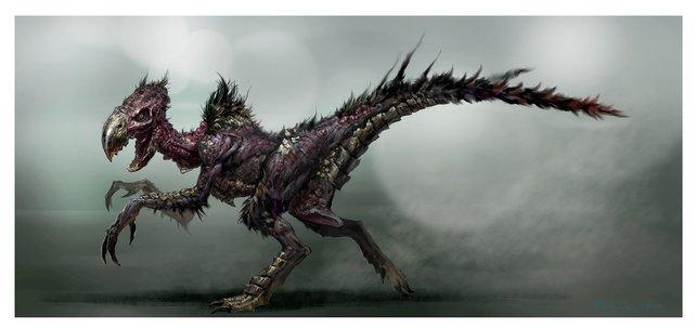 Konzeptzeichnung einer der Kreaturen, denen ihr in Elex begegnen könnt.