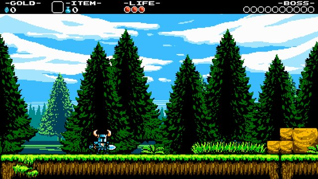 Shovel Knight punktet mit feinster 8-Bit-Grafik.