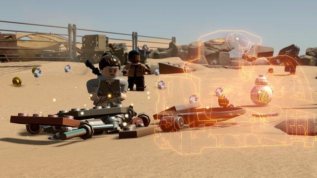 Neu: Mit ein und denselben gefundenen Lego-Steinen könnt ihr nun bis zu drei Objekte bauen.