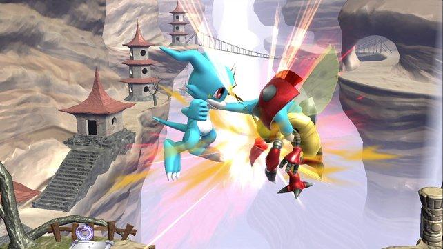 Bei Digimon geht's Schlag auf Schlag.