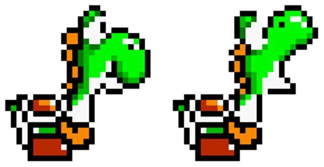 Yoshi ist ab dem ersten Tag der Konsole so etwas wie das Maskottchen des Super Nintendos. Trotzdem folgen danach erstmal Auftritte auf den viel schwächeren Pendants NES und Game Boy.