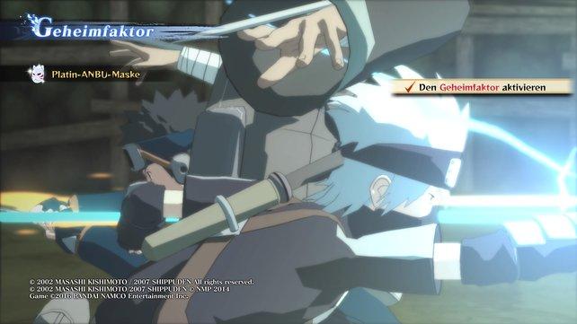 Für den Geheimfaktor zwischen Kakashi und Obito gibt es eine Platin-Anbu-Maske.