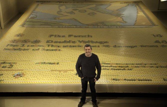 """Quentin Devine hat es mit seinem Pokémon-Mosaik in das """"Guinnes-Buch"""" der Rekorde geschafft."""