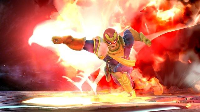 """Der markante """"Falcon Punch"""" bringt dem Gegner Manieren bei."""