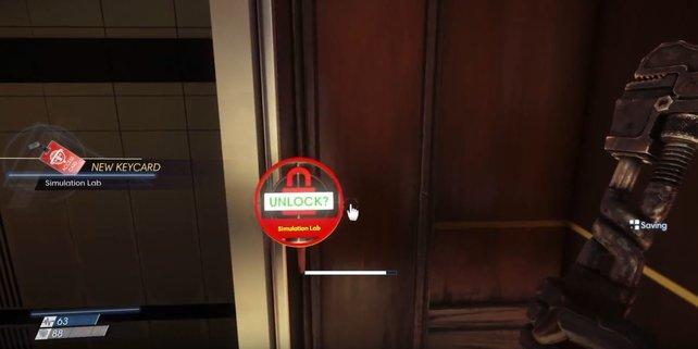 Zugang zum Simulationslabor: Die Schlüsselkarte hebt die Verriegelung der Tür auf.