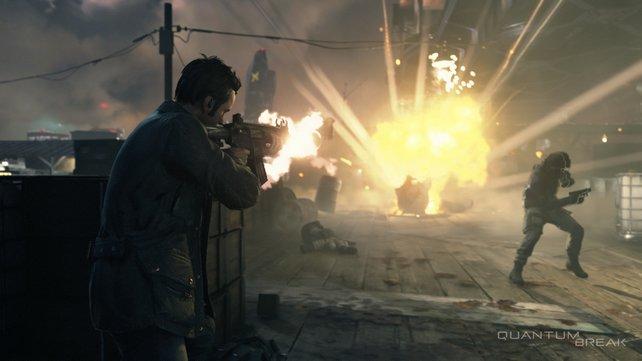 So muss gute Action aussehen. In Quantum Break knallt es ganz gewaltig!