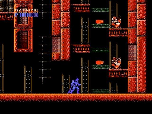 In Batman - The Video Game für das NES kämpft ihr auch gegen Mutanten und Ninjas.