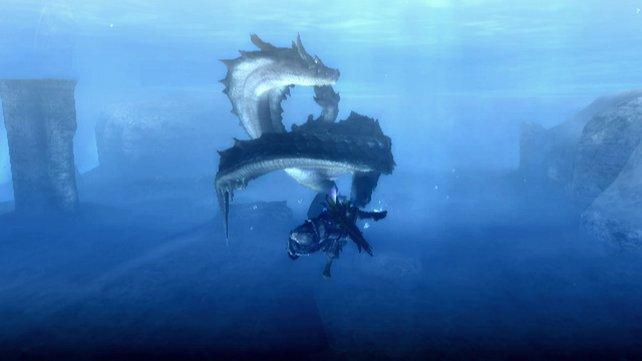 Der Lagiacrus besitzt unter Wasser eine unglaubliche Beweglichkeit.