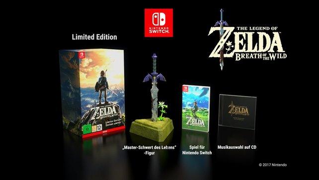 Hier seht ihr die Inhalte der Limited Edition von The Legend of Zelda - Breath of the Wild.