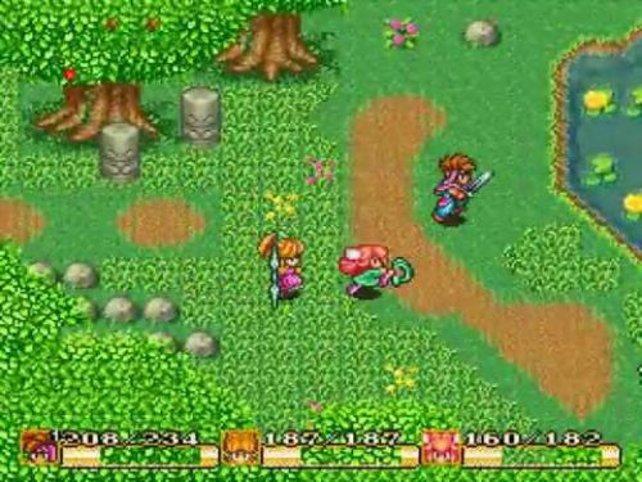 Im alten SNES-Rollenspiel Secret of Mana startet ihr mit drei Charakteren ins Abenteuer.
