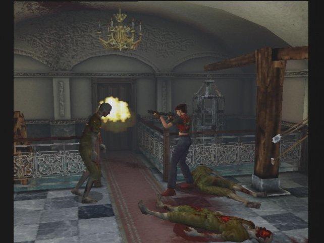 Die tapfere Claire kämpft sich durch zombieverseuchte Areale in 3D-Optik.