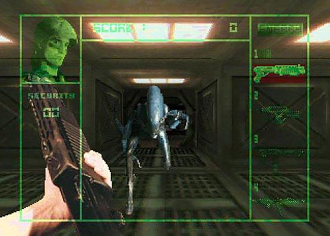 Läuft das Alien auf euch zu, dann zögert besser nicht zu lange.