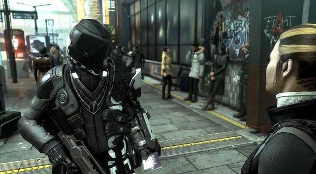Wer sich in der Welt von Deus Ex aufhält entdeckt interessante Kleidung.